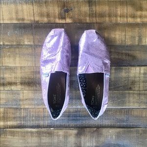 Glitter Toms, candy pink